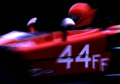 Photograph - #44 Race Car Blur by Robert  Rodvik