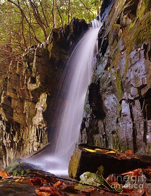 Mountain Landscape Rights Managed Images - Waterfall Colours Royalty-Free Image by Steven Ellis