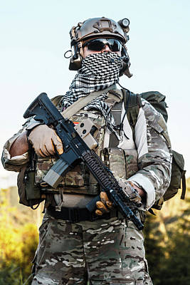 Photograph - United States Army Ranger by Oleg Zabielin