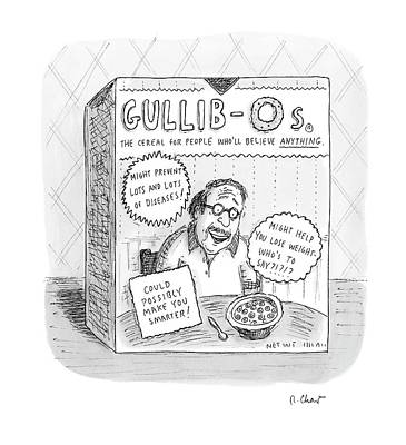 O Drawing - New Yorker August 27th, 2007 by Roz Chast