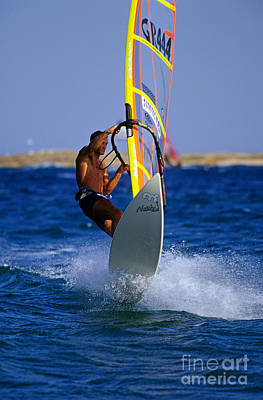 Action Photograph - Windsurfing by George Atsametakis