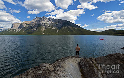 Photograph - 443p Lake Minnewanka Canada by NightVisions