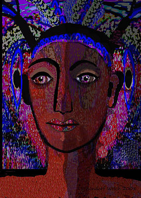 447 - Dark Lady Art Print by Irmgard Schoendorf Welch