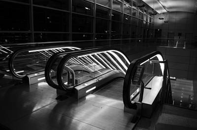 Photograph - 44th Street Station Escalator by Alan Marlowe