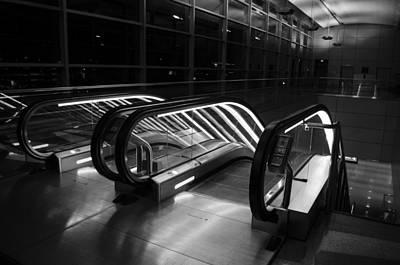 Photograph - 44th Street Station Escalator by Alan Marlowe