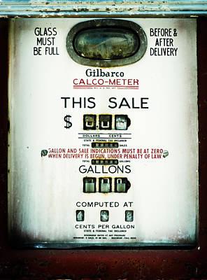 Photograph - 45 Cents Per Gallon by Rebecca Sherman