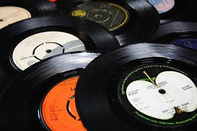 45 Inch 1960's Vinyls Art Print