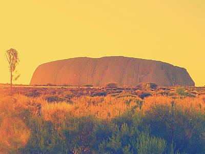 Ayers Rock Photograph - Uluru by Girish J