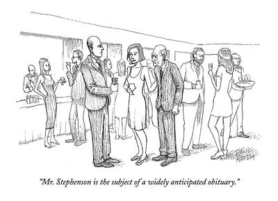 Paul-noth Drawing - Mr. Stephenson Is The Subject Of A Widely by Paul Noth