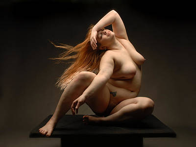 Photograph - 4541 Full Figured Nude by Chris Maher