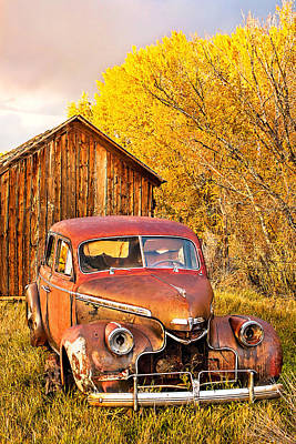 46 Chevy In The Weeds Art Print