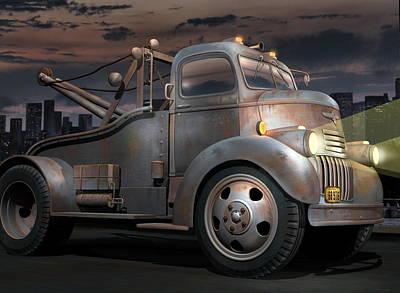 '46 Chevy Towtruck Original by Stuart Swartz