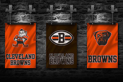 Cleveland Browns Art Print by Joe Hamilton