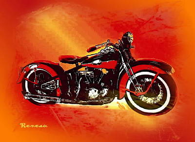 Photograph - '46 Harley Knucklehead by Sadie Reneau