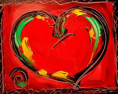 Union Bridge Painting - Heart by Mark Kazav