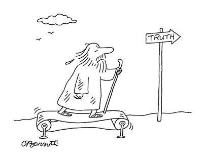 2007 Drawing - New Yorker April 16th, 2007 by Charles Barsotti