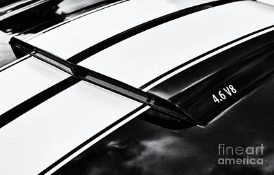 Car Badges Photograph - 4.6 V8 by Tim Gainey