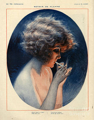 Maurice Milliere Drawing - 1920s France La Vie Parisienne Magazine by The Advertising Archives