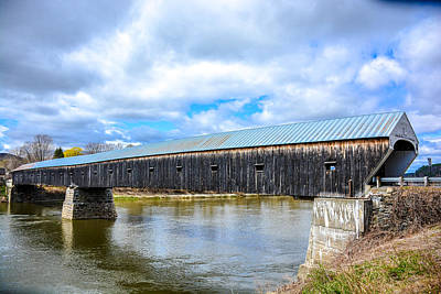 Old Bridge Abutment Photograph - 460 Feet Long- Cornish-windsor Bridge by Sherman Perry