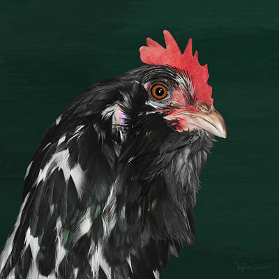 Digital Art - 47. Bearded Hen by Sigrid Van Dort