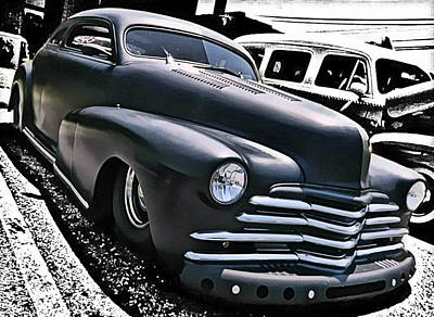 Art Print featuring the photograph '47 Chevy Lowrider by Victor Montgomery