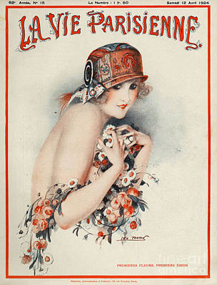 Woman Drawing - La Vie Parisienne  1924 1920s France by The Advertising Archives