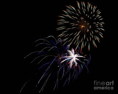 Rvr Fireworks 2013 Art Print by Mark Dodd