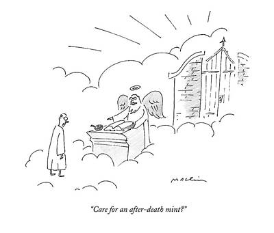 Heaven Drawing - Care For An After-death Mint? by Michael Maslin