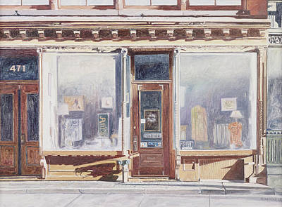 Storefront Painting - 471 West Broadway Soho New York City by Anthony Butera