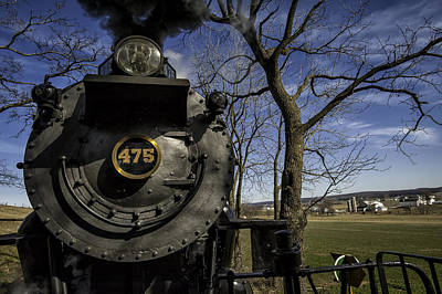 #475 Steam Engine On The Strasburg Rr 04 Print by Mark Serfass