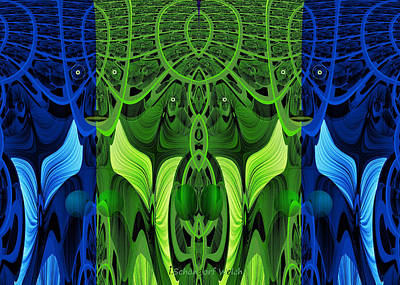 0rnamental Digital Art - 479 - Secret Dwellers In The Woods by Irmgard Schoendorf Welch