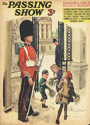 Buckingham Palace Drawing - 1930s,uk,the Passing Show,magazine Cover by The Advertising Archives