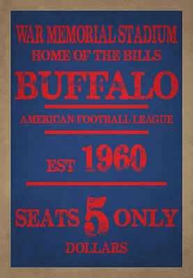 Buffalo Bills Art Print by Joe Hamilton