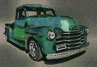 Truck Digital Art - 48 Chevy Truck by Ernie Echols