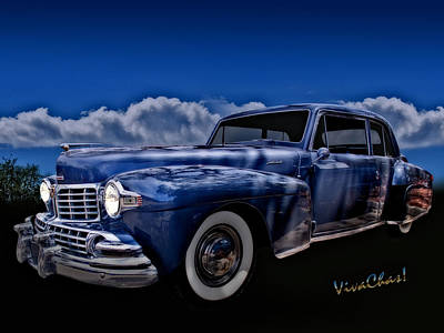 48 Lincoln Continental By Moonlight Art Print