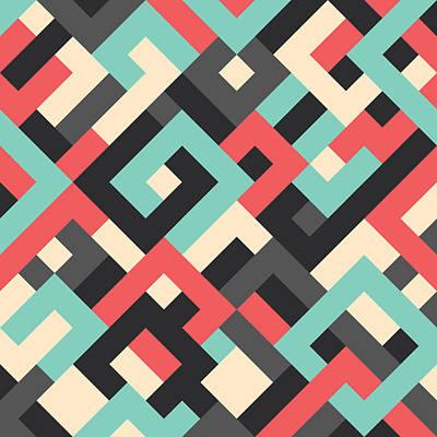 Pixel Art Art Print by Mike Taylor
