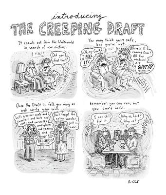 Cold Drawing - New Yorker January 15th, 2007 by Roz Chast