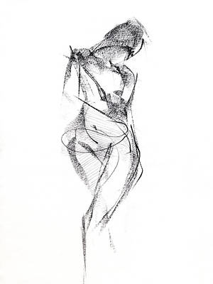 Nudes Drawing - Rcnpaintings.com by Chris N Rohrbach
