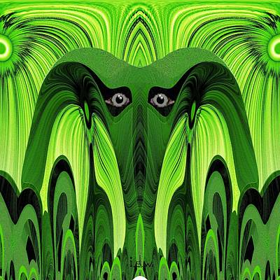 482 - Green Ghost Of The Woods Art Print by Irmgard Schoendorf Welch