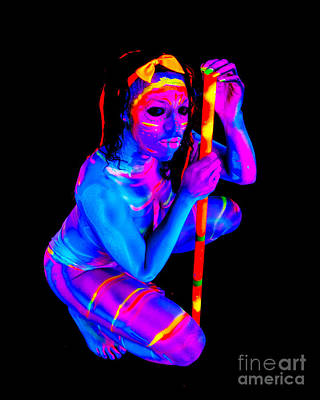 Androgyny Photograph - Neon by Ron Vestal