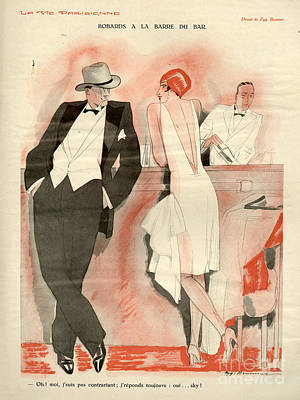 1929 Drawing - 1920s France La Vie Parisienne Magazine by The Advertising Archives