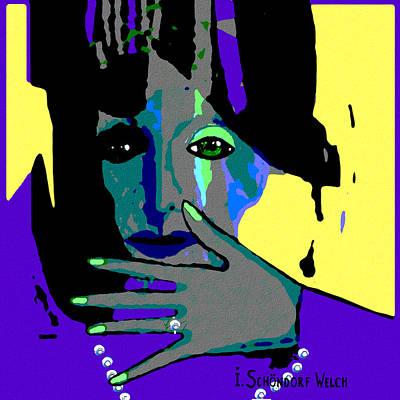 488 - A Green Eyed Woman  Art Print
