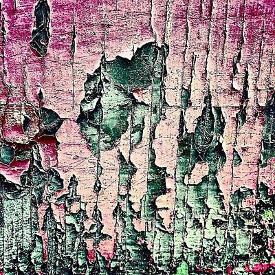 Abstract Wall Art - Photograph - Flaky Paint by Jason Michael Roust