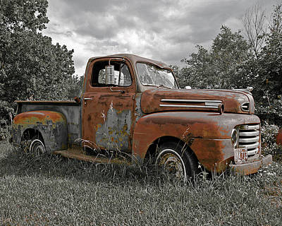 Art Print featuring the photograph '49 Ford Pick-up by Christopher McKenzie