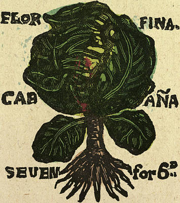 Cabbage Drawing - Illustration Of English Tales Folk Tales And Ballads by English School