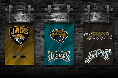 Flag Photograph - Jacksonville Jaguars by Joe Hamilton
