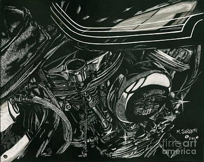 Motorcycles Drawing - 49 Panhead by Matthew Jarrett