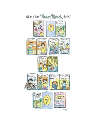 Boredom Drawing - New Yorker April 7th, 2008 by Roz Chast