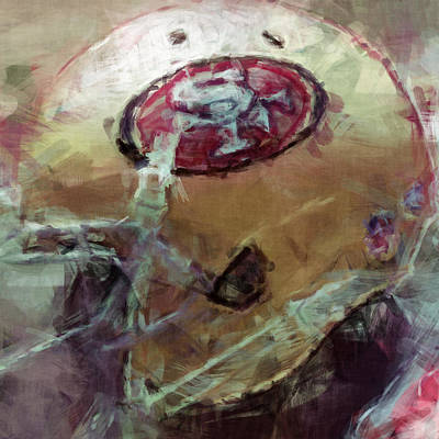 Gridiron Digital Art - 49ers Art by David G Paul