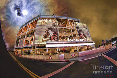 Photograph - 49ers Levi's Stadium Orange Night Sky by Blake Richards